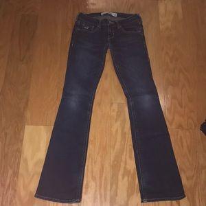 Hollister medium wash bootcut jeans, Size 0S